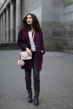 288c6dff64ac hoch sitzend pink coat plum coat leatg pans jogpants atelier gardeur khaki  sweatpants nude bag fashion