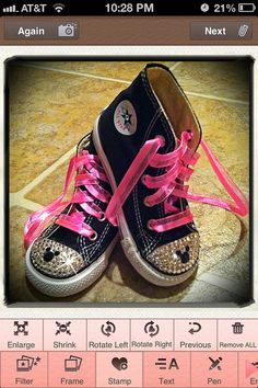 7afc8ffb4d5d Minnie Mouse bling converse  I need to find out how to make something like  this!