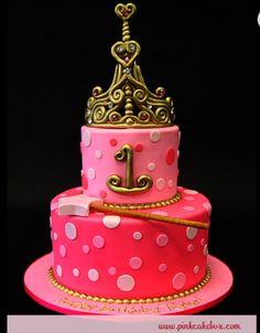 Girls birthday cake www.pinkcakebox.com
