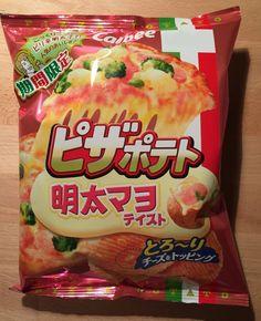 "Calbee Potato Chips ""Pizza Potato Mentai Mayo"" 70g, Japan, Snack, Candy #Calbee"