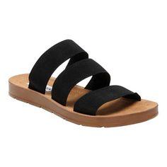 bc8ce20ac04 Women s Steve Madden Pascale Slide - Black Elastic Sandals