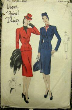 Vogue S-4599 | 1940s Vogue Special Design Suit