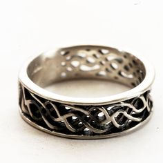 50% OFF Celtic Wedding Engagement Ring in Sterling by Spoonier