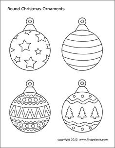 Free printable round and teardrop-shaped Christmas tree ornaments to color and u. - Free printable round and teardrop-shaped Christmas tree ornaments to color and use for paper crafts - Christmas Ornament Coloring Page, Printable Christmas Ornaments, Printable Christmas Coloring Pages, Paper Ornaments, Free Christmas Printables, Christmas Tree Template, Beaded Ornaments, Printable Coloring, Glass Ornaments