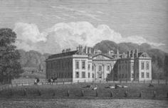 Althorp, Princess Diana's ancestral home.  This is Althorp's entrance front in the 1820s.  The appearance of the house from this angle is almost unaltered today.
