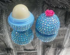 Rhinestones add drama and bling to your organic EOS, lip balm. NEW AND UNUSED EOS. I am not selling Eos lip balm as much as a Custom Designed and