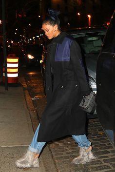 November 24: Rihanna arriving at a tattoo parlor in New York