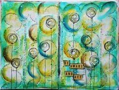 Art Journaling: circles...tiny writing?