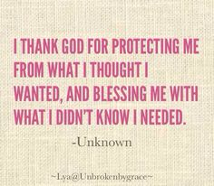 Thank You God for protecting me