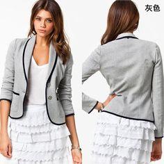 e77a685df Casual Turn-down Collar Slim Short Fashion Plus Size Blazer. Lojas  OnlineMalhaBlazer ...