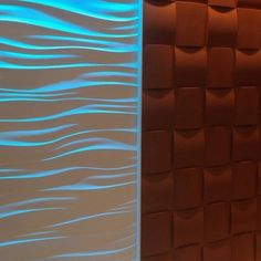 3D Wall Tiles/ Wave Wall With LED lighting & Woven Wall 360designllp.com