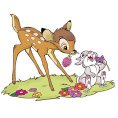 Bambi And Thumper - Disney And Cartoon Clip Art Images