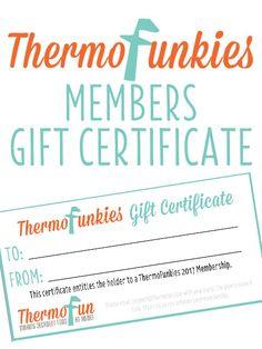 ThermoFunkies 2017 Member Gift Certificate
