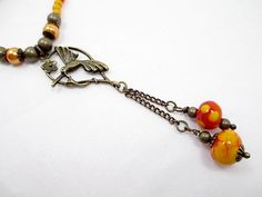 Hummingbird Lariat Necklace Beaded Jewelry by LittleBitsOFaith, $32.00