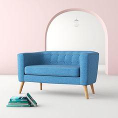 "Hashtag Home Niemeyer 51.5"" Tuxedo Arms Loveseat & Reviews | Wayfair"