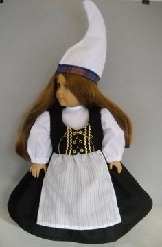 """Fits 18"""" American Girl doll Iceland Icelandic folk dress clothes H (COSTUME ONLY"""