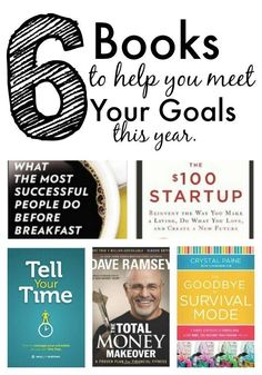 Do you have big dreams or goals for this year? Do you want to gain traction, bu don't know where to start? Here are 6 books we use to meet our goals. We've included everything from personal finance to time management. Everything you need to reach your goa