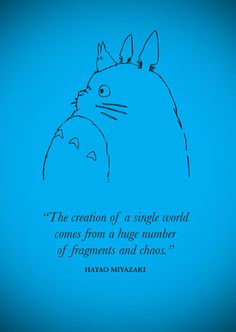 Hayao Miyazaki going to put this on a canvas