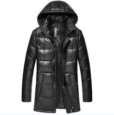 Dusen Klein New Leather Down Jackets