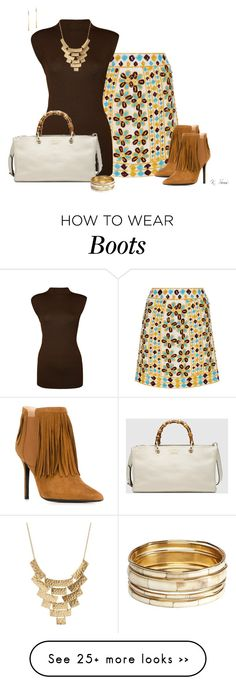 """Fringe Boots"" by ksims-1 on Polyvore featuring Pia Pauro, Aperlaï, WearAll, Gucci, Charlotte Russe, Aqua and Michael Kors"