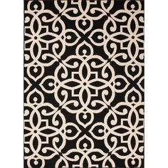 Indoor-Outdoor Geometric Pattern Black/Brown (5'3 x 7'6) AreaRug - Overstock Shopping - Great Deals on Jaipur 5x8 - 6x9 Rugs