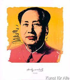 Chairman Mao, 1983 by Andy Warhol Art Print Berlin Museum 1996 Exhibition Poster Andy Warhol Pop Art, Andy Warhol Museum, Pittsburgh, Pop Americano, Modern Art, Contemporary Art, Pop Art Movement, Affordable Wall Art, Art Moderne