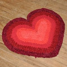 """Crochet sheets into rugs!  Cut sheets into strips, cut slit into one end and feed it through another to make """"yarn"""""""