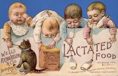 Lactated Food Victorian Babies Trade Card (front)