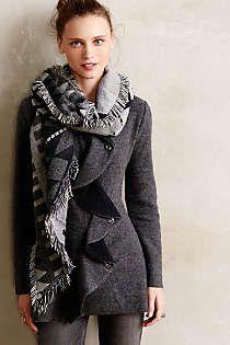 Anthropologie - Ruffled Wool Sweatercoat. I would get it in Plum.