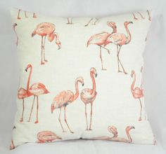 Flamingo Cushion Cover x sq.) Salmon Pink Back Flamingo Pattern, Pink Bird, Playroom Decor, Pink Flamingos, Decorative Throw Pillows, Pretty In Pink, Salmon, Moose Art, Changing Tables