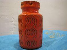 """Vintage Vase – Scheurich 285-15 Amsterdam """"Onion"""" – Fat Lava – 1960s Op Art Design – Mid Century Home Decor – WGP – Orange German Pottery von everglaze auf Etsy"""