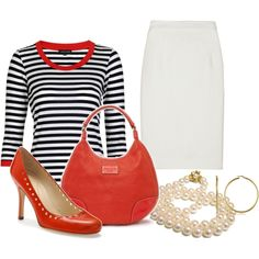 """""""Simple Stripes"""" by itztru on Polyvore"""