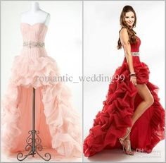 Cheap Prom Dresses - Discount Designer High Low Tulle Corset Prom ...