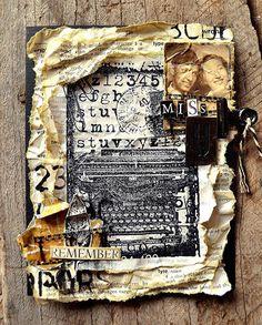 Typewriter Collage Stamp Card tutorial