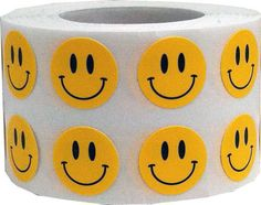 1000 Yellow Smiley Happy Face Stickers  Tiny 0.5 by TheDotSpotLane
