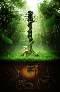 Sounds of Nature by Thiago Storino, via Behance. The process he used to make this is great!