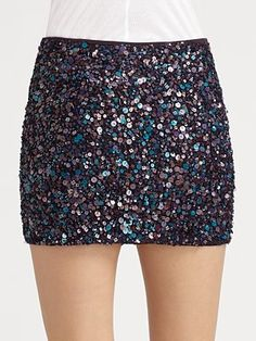 Not your average gold or silver sequined skirt...