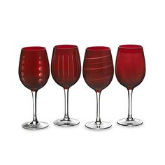 MIKASA Cheers Ruby Wine Glasses Set Of 4 $39.95 BEST PRICE GUARANTEE FREE WORLD SHIPPING (LOCAL ORDER PICK UP IS ALSO AVAILABLE & GET 20% OFF)