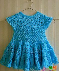 Dress, free crochet pattern ❁•Teresa Restegui http://www.pinterest.com/teretegui/•❁