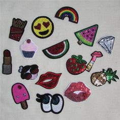 [Visit to Buy] 1pcs sell high quality paillette patch hot melt adhesive applique embroidery patches stripes DIY clothing accessory C2001-C2018 #Advertisement