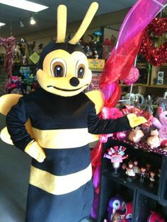 Billy the bumble bee wants you to bee his Valentine! Buzz on in to Snapdragon Floral & Gifts, Dayton, Wa. 509-382-2565