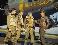 """B-17 """"Mission Belle"""" and Crew"""