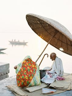 A bit of shade in Varanasi, India
