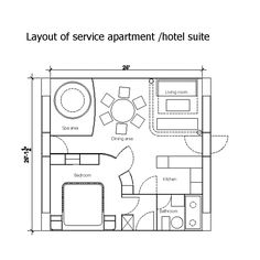 hotel room layout dimensions - Google Search