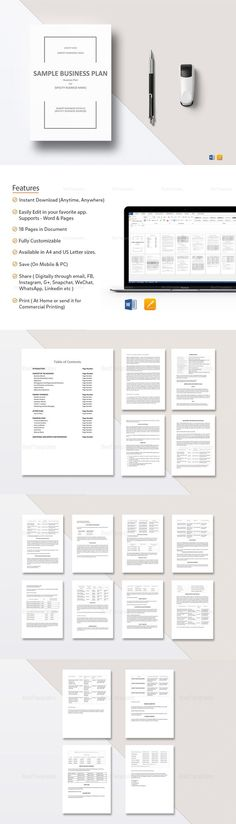 Simple Business Plan Template   Formats Included Ms Word