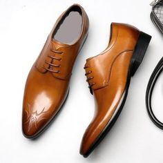Men's Archives | LisaExpress Leather Dress Shoes, Evening Shoes, Luxury Branding, Derby, Men's Shoes, Oxford Shoes, Lace Up, Brown, Fashion