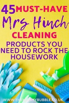 Mrs Hinch must-haves for cleaning - The Mummy Bubble - 45 must-have Mrs Hinch cleaning products. These are the cleaning tools, sponges and cleaners Mrs Hi - Deep Cleaning Tips, House Cleaning Tips, Spring Cleaning, Cleaning Hacks, Cleaning Recipes, Best Cleaning Products, Daily Cleaning, Cleaning Checklist, Popular Instagram Accounts