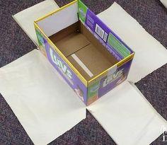 15 Brilliant Ways To Reuse Your Empty Cardboard Boxes – cardboard crafts diy Recycling Bin Storage, Diy Storage Boxes, Storage Ideas, Hanging Storage, Cardboard Box Diy, Cardboard Furniture, Cardboard Playhouse, Decorative Cardboard Boxes, Cardboard Storage