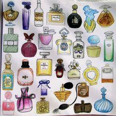 Zoe De Las Cases Secret Paris Colouring Book, Perfumes by Michelle