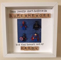 Handmade Personalised Scrabble Art Superhero Daddy Dad Grandad Gift Box Frame in Home, Furniture & DIY, Home Decor, Photo & Picture Frames | eBay!